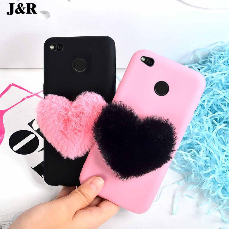 f6b0e3a4038fb5 ... J R 3D Furry Love Heart Phone Case For Xiaomi Redmi 3S 3 Pro 4A 4X 5A  ...