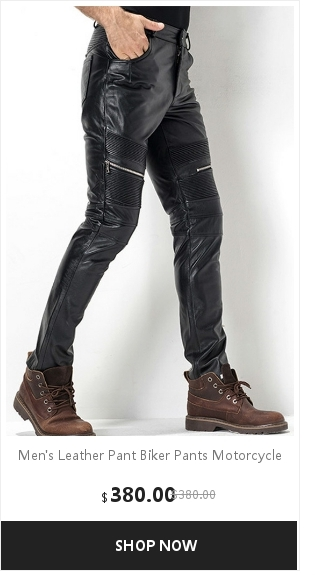 Men's Leather Pant Biker Pants Motorcycle Punk Rock Pants Tight Gothic Leather Pants  Slick Smooth Shiny Trousers Sexiest TJ01 10