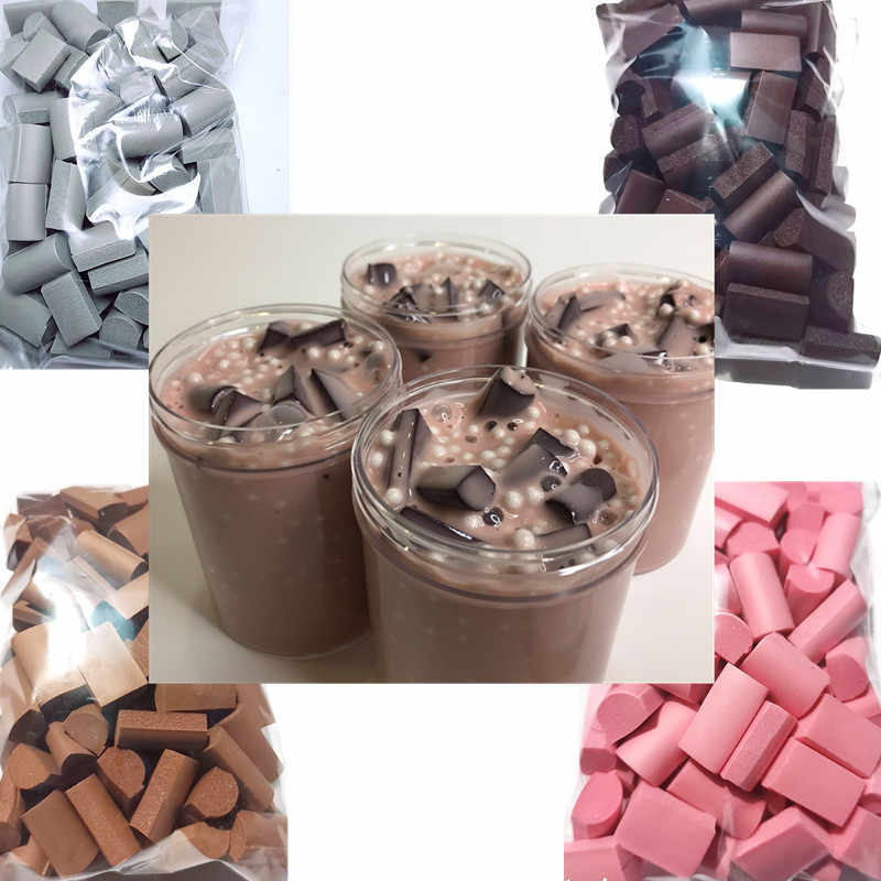 70PCS/Pack Slime Mud Filler Clay Decoration Craft Sponge Strip Foam Beads Kids Toys Christmas Gifts Slime Accessories 4 color