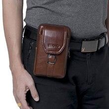 Retro couro de luxo saco do telefone móvel para samsung galaxy s8 s9 plus s7 j série genuíno caso carteira para o iphone 6 7 8 x