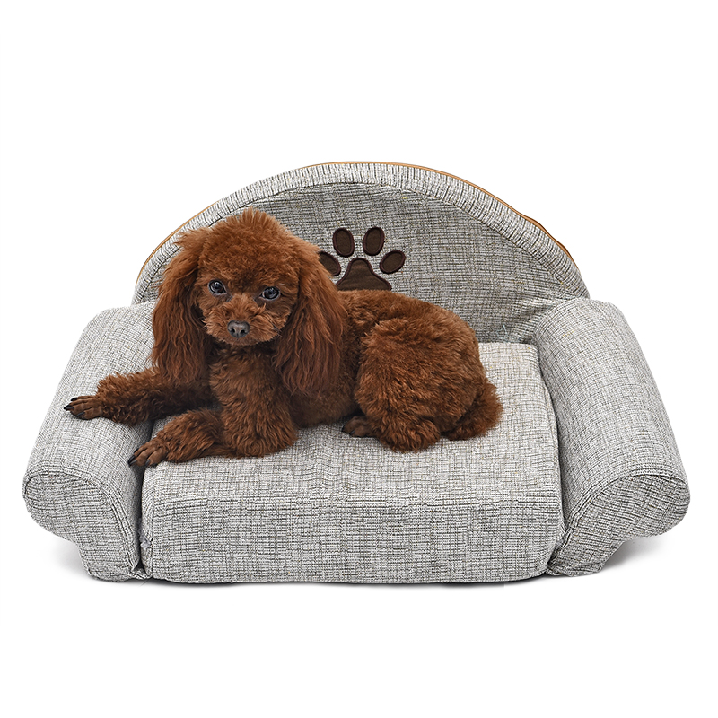PAWZRoad Pet Dog Beds Pet Soft Kennel Cute Paw Design Pet Sofa Gray Dog  Sofa Dog Cat House Winter For Pet Great Quality Hot Sale In Houses, Kennels  U0026 Pens ...