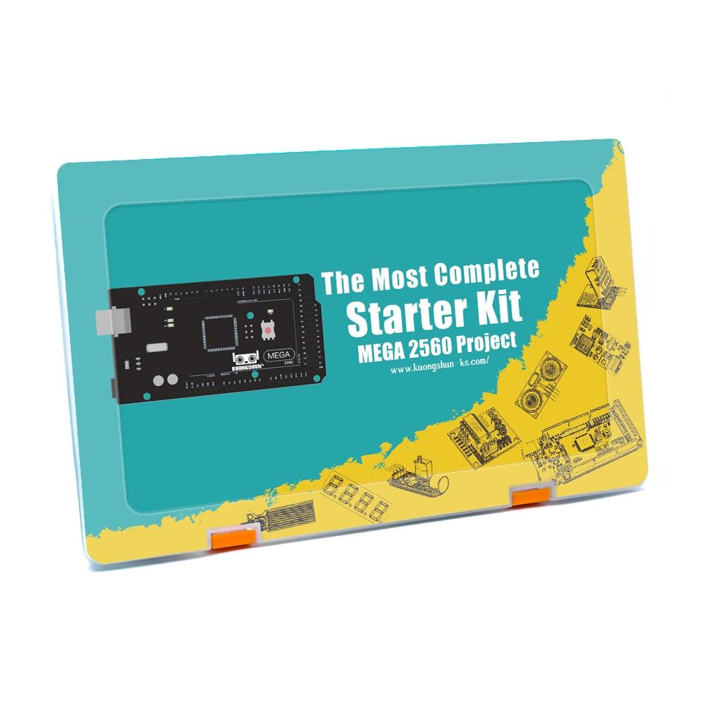 Mega 2560 Project EL KIT 008 Arduino el Kit de inicio más completo con TUTORIAL para Arduino Kit de unoAccesorios de tablero de demostración   -