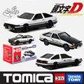 Modelo de plástico escala 1:156 diecast metal modelo de carro liga coleção toys carro initial d takumi fujiwara ae 86