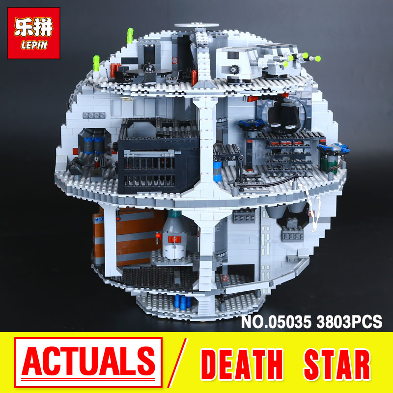 LEPIN 05035 3804pcs Star Wars Death Star  Building Block Bricks Toys Kits  Compatible with 10188 Child Gift lepin 22001 pirate ship imperial warships model building block briks toys gift 1717pcs compatible legoed 10210