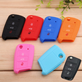 3 Button Folding B Silicone Key Cover For Skoda Yeti Superb Rapid Fabia Octavia High Quality 6 colors