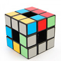 Newest 3 Layers Hollow Magic Cube Lanlan PVC Sticker Empty Cube Speed Twist Puzzle intelligence Games Educational Toys Black -48