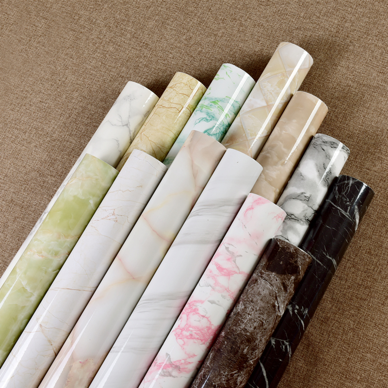 Marble Vinyl Film Self Adhesive Wallpaper For Bathroom