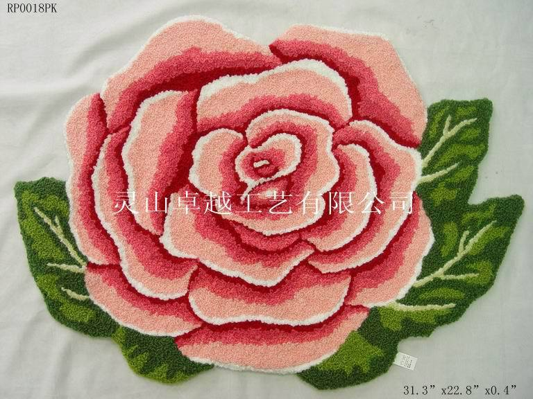 2014 New Real Alfombras Rose Flower Shaped Coffee Table Handmade Carpets . Marriage Bedroom Floor Mats Skid Small Stairs Doorm