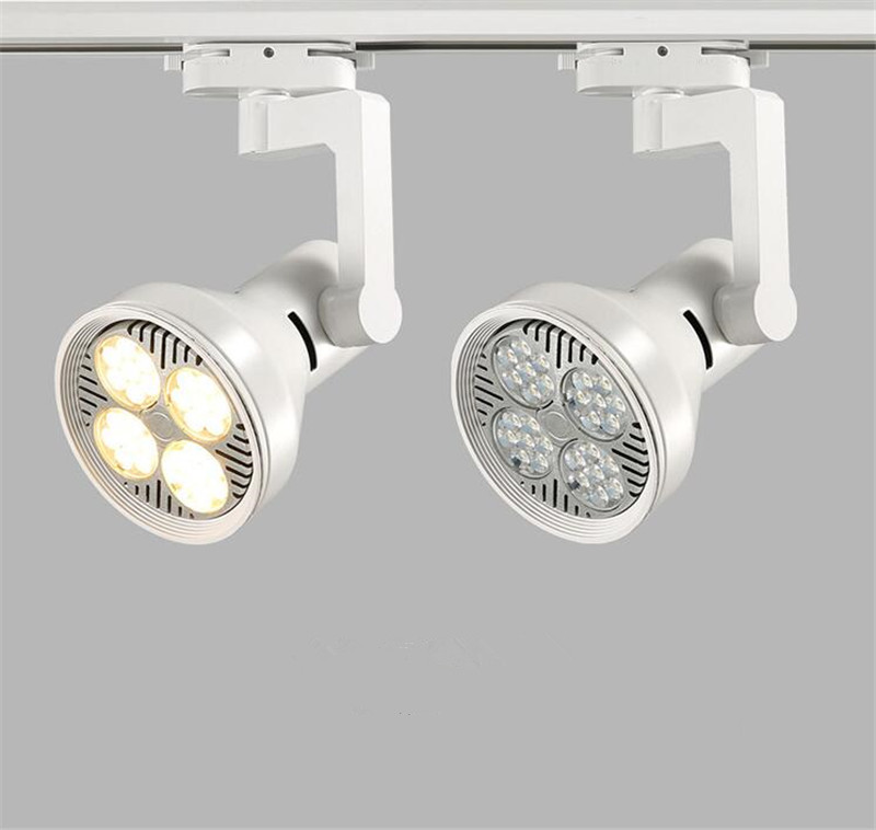 2pcs led track lights 35w cob modern wall light for railway rail industrial kitchen clothes shoes stores shops lampada led lamp in track lighting from