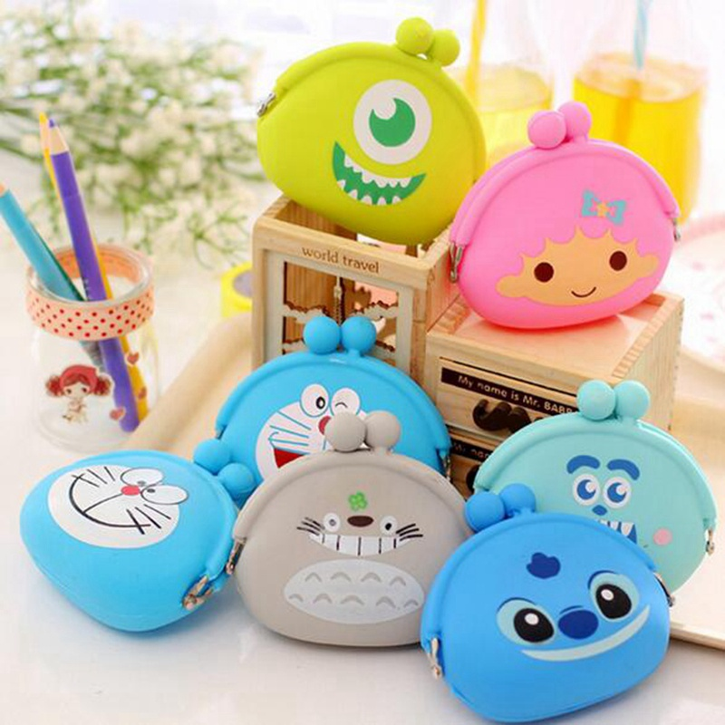New Fashion Lovely Kawaii Cartoon Totoro Animal Women Girls Wallet Multicolor Jelly Silicone Coin Bag Purse Kid Gift