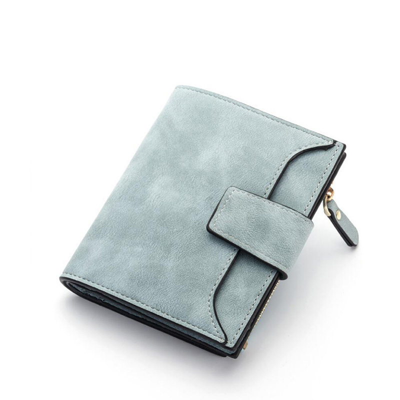 Women wallet Women Short  Wallet  Purse Coin Pocket Fashion Solid Color Hasp Purse Retro Temperament PU Material Q3128 fashion hasp and solid color design wallet for women