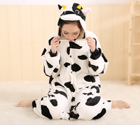 Milk Cow Adult Animal Onesie Pajamas Costume For Cosplay Party For Fun