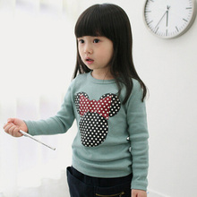 Long Sleeve T-shirt For Girls Toddler Kids Clothes Baby Girls Cartoon Print Mickey T shirts Casual Tops Tees Children's Clothing 2016 girls clothes floral pattern long sleeve children tops for girls white baby girls tees casual toddler girls t shirt