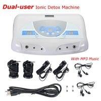 Двойной пользователя ионной детоксикации машина стопы Для ванной спа инструмент ЖК дисплей w/mp3 музыка очистить салон