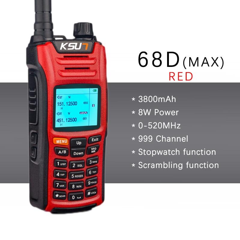 KSUN KSX68D Portable Shatterproof Hidden LED Lighting Cheapest Two Way Ham Radio Walkie Talkie