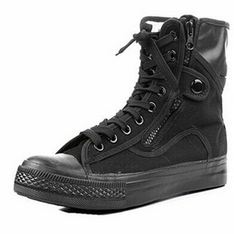 Summer font b Men s b font Outdoor Breathable Canvas Army Combat Hiking font b Boots