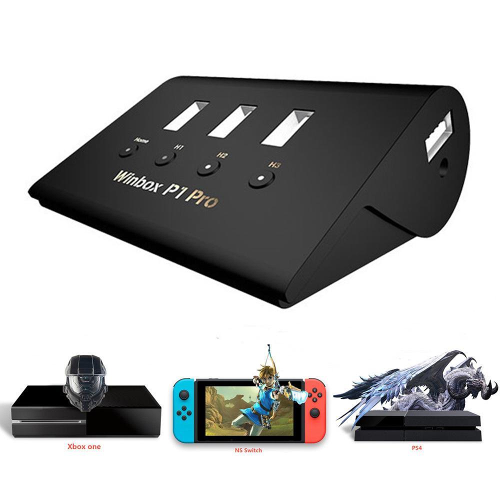 Adaptateur de manette clavier/souris 4USB convertisseur de commutateur indépendant pour FPS PS4 P1 Pro XBOX, AoV, légende Mobile, RoS, Cutter
