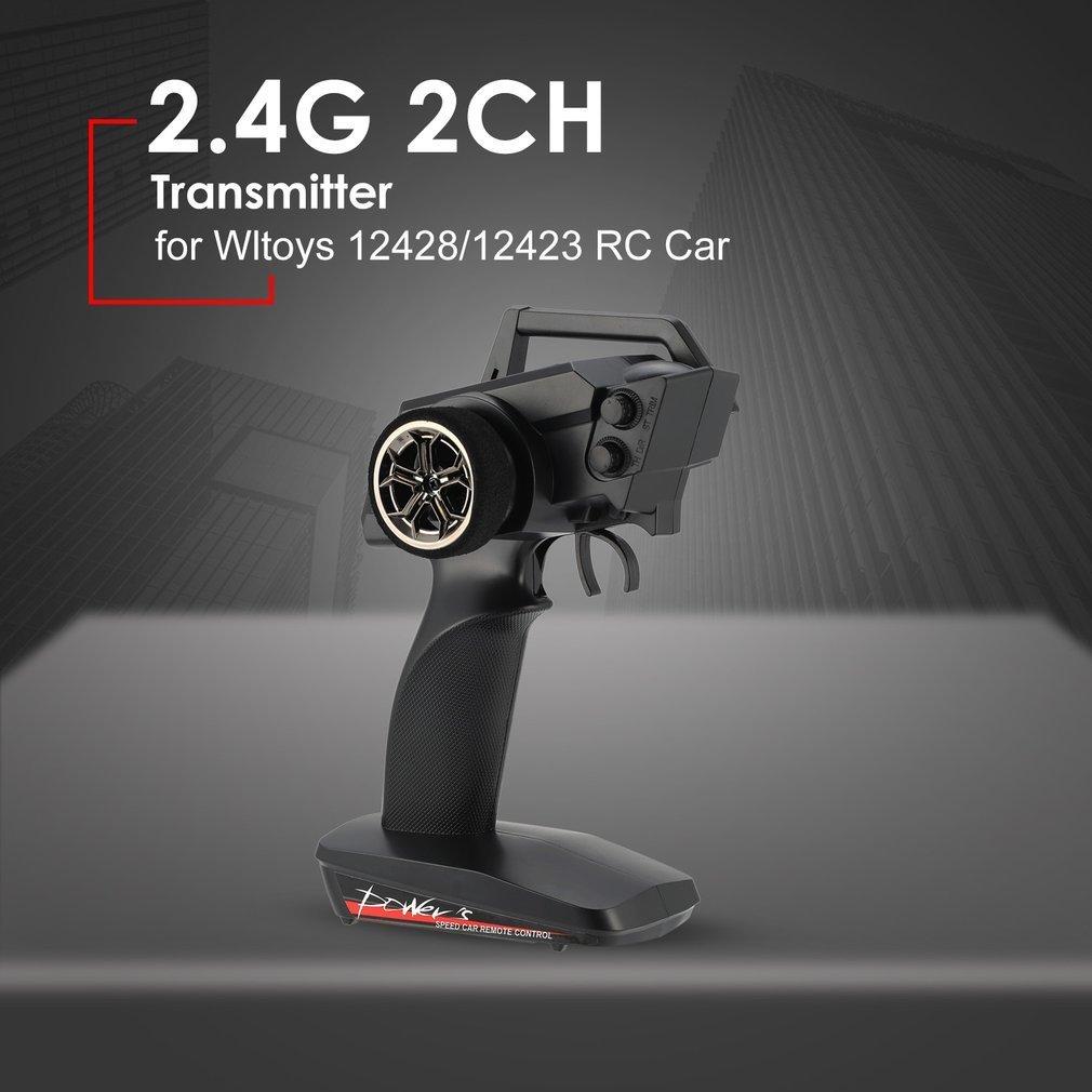 2.4g 2CH Trasmettitore A Distanza di Controllo Radio di Ricambio per Auto RC 1/12 Wltoys 12428/12423 4WD Crawler Mano Destra Modalità