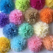 10cm 15cm 20cm 25cm Wedding Decorative Paper Pompoms Pom Poms 4 6 8 10 inch Balls Party Home Decor Tissue Birthday Decoration(China)