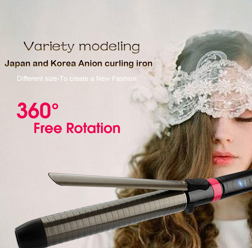 Professional Salon Ceramic coating curling iron temperature adjustment Wand curler hair curling irons hair curler styling tools 25 28mm professional salon ceramic hair curling iron tongs 360 rotating clip big wave hair curler fast heating styling tools s34