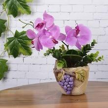 diy regalo guirnalda artificial hojas verdes rosaorqudea mariposa de seda hoja belleza planta decoracin