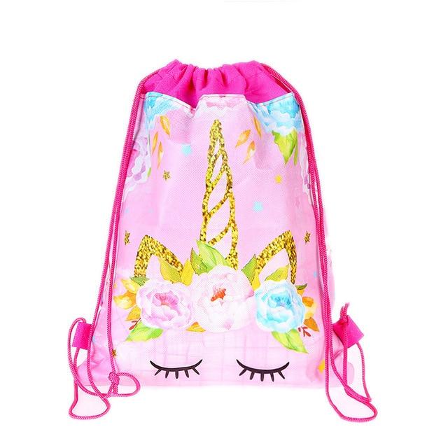 aliexpress com buy unicorn theme drawstring bags baby shower party
