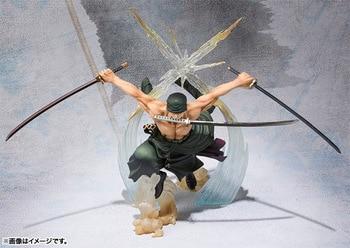 Anime One Piece 17cm Roronoa Zoro Battle Ver Action Figure Collection Model Toys