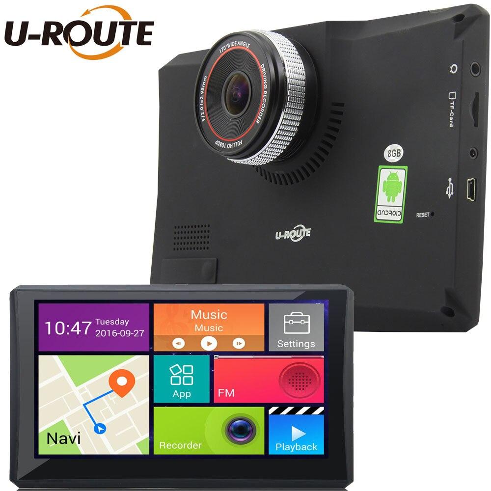 """imágenes para 7 """"Wifi Android 4 Cámara Del DVR Del Coche de Navegación GPS Dash cam Video Recorder Cámara Trasera de Aparcamiento Videocámara Full HD 1080 P"""