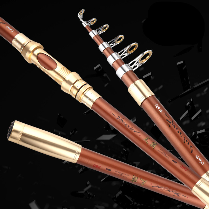 Special offer super-hard 2.1/2.4/2.7/3.0/3.6 m telescopic fishing rod rock/river/pond/sea carbon fishing rods fishing tackles special offer 1 pcs lot 1 8 2 1 2 4 2 7 3 0 3 6 4 5 m carbon telescopic fishing rod river lake pond fishing rods