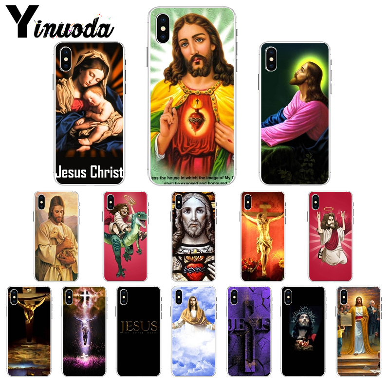 Yinuoda Christian Jesus Colorful Cute Phone Accessories Case for iPhone 7 7plus 5 5Sx 6 8 8Plus X XS MAX XR