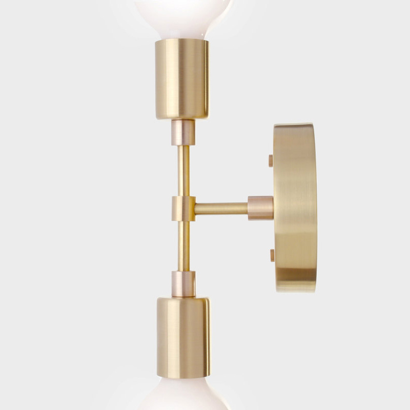 Image 2 - Brass Lighting   Industrial Vintage copper Wall Lamp Retro double heads Antique brass Light E26/E27 For bedroom reading of Art-in LED Indoor Wall Lamps from Lights & Lighting