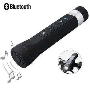 Vélo Bluetooth haut-parleur Portable FM Radio batterie externe vélo vélo musique MP3 lampe de poche LED 1200mAh avec support
