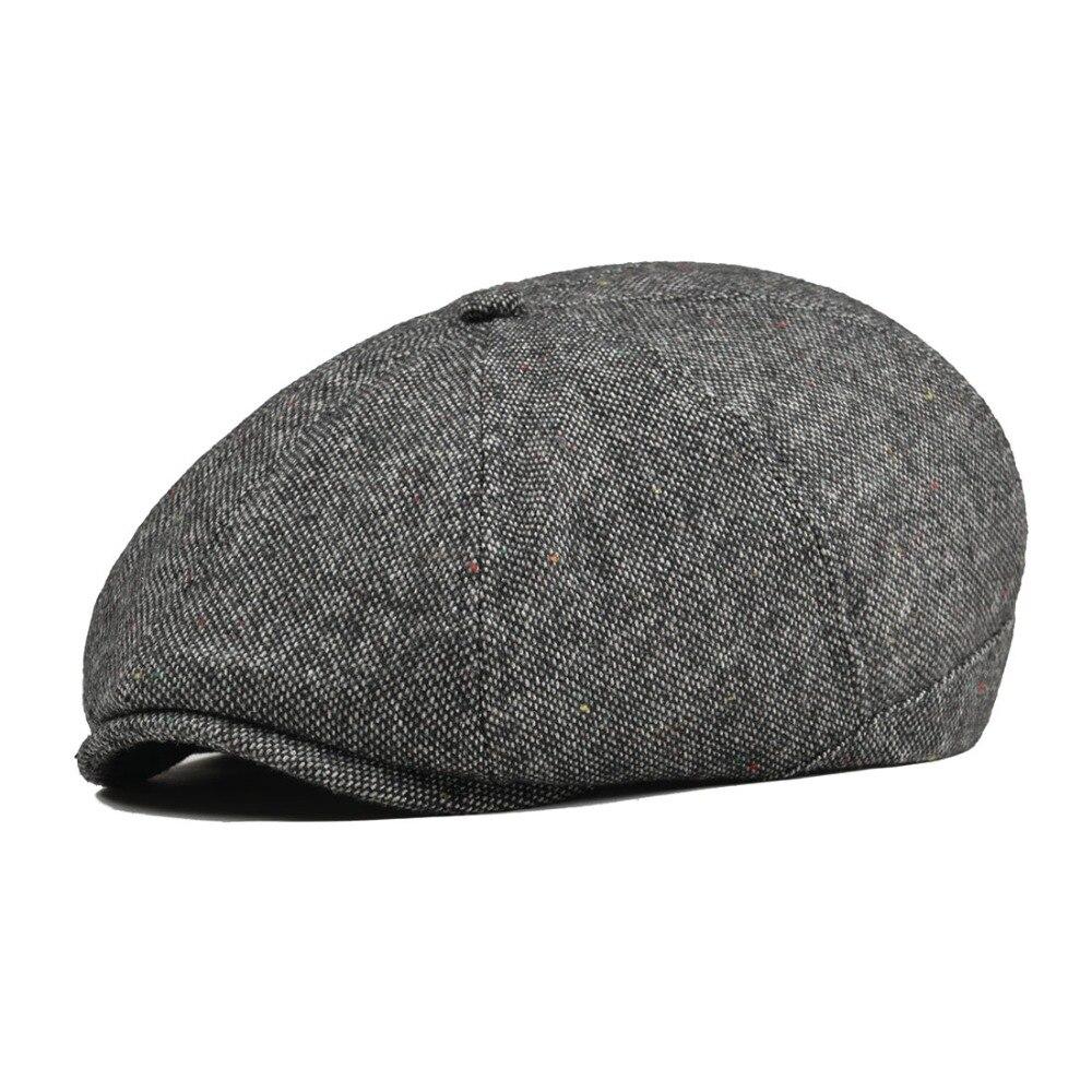 c69ce84b4d US $19.99  VOBOOM Women Men Tweed Woolen Newsboy Cap Herringbone 8 Panel  Country Baker Boy Ivy Flat Cap Gray Black Beret Hats Boina 111-in Newsboy  ...