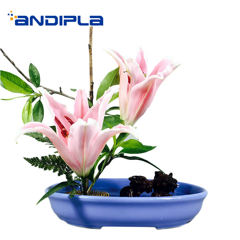 Creative Ceramic Oval Flower Pot Ikebana Flower Arrangement Base Home Gardening Decor Crafts Bonsai Table Vase Modern Vases Vases Aliexpress