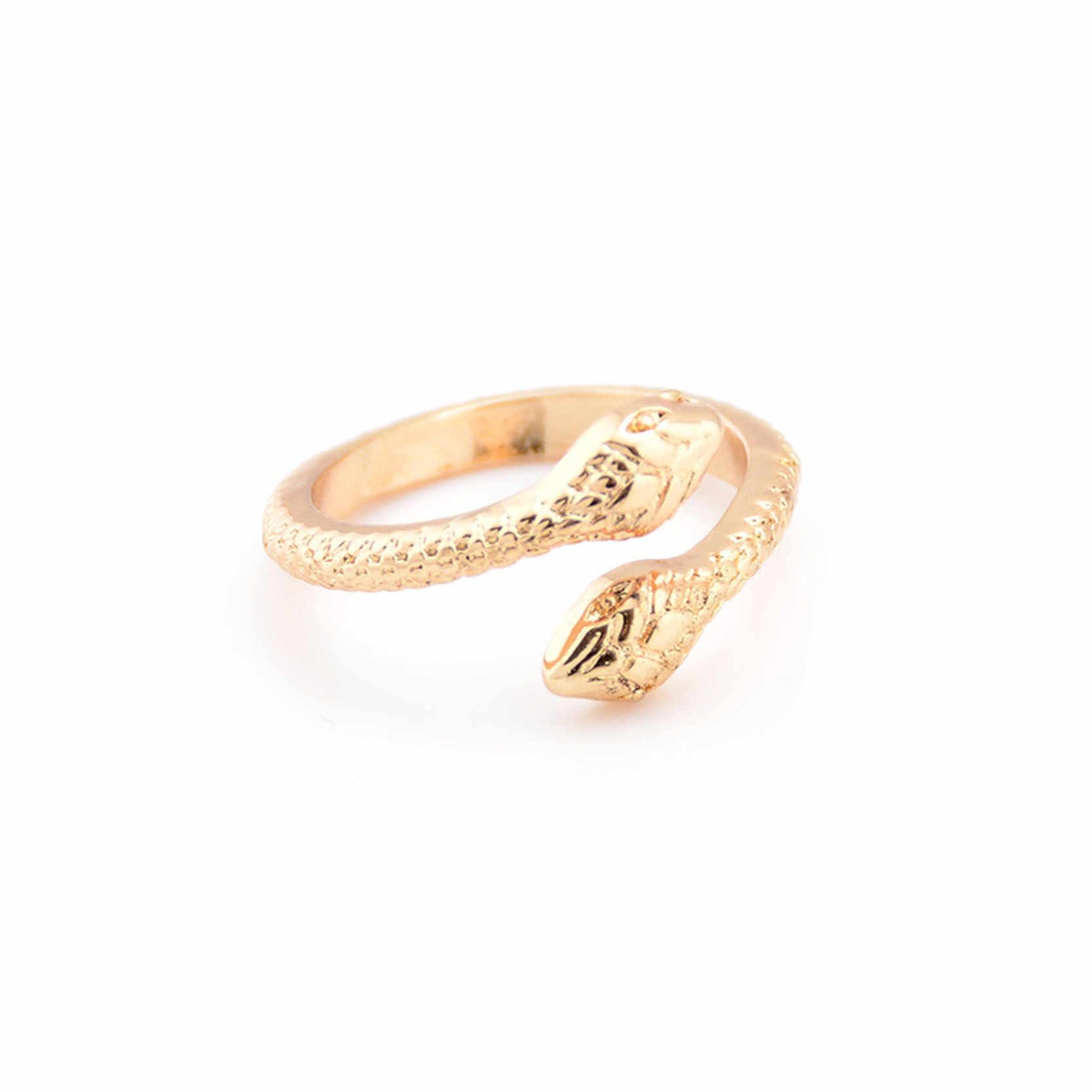 Günstige Mode Schmuck Gold/Silber Farbe mit Schlange Förmigen Ring für Frauen Party