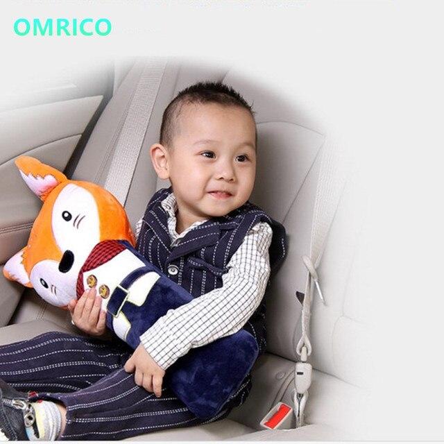 1pcs Lovely Child Auto Pillow Padding Seat Belt Pp Cotton Cartoon Children Car Cover