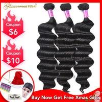 Peruvian Virgin Hair Loose Deep Wave Curly Weave Human Hair Extension 100% Unprocessed Loose Wave Human Hair 1 3 4 Bundles Deals