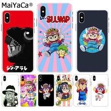 MaiYaCa DRAGON BALL Arale Anime Kawaii 2018 Venda Quente Da Moda tampa da caixa de telefone para o iphone 8 7 6 6S mais X XS max 10 5 5S SE XR(China)
