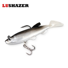 LUSHAZER Soft bait jigging lure 3d augen 8cm 14g iscas artificiais fishing lures china silicone bait hook carp fishing tackle