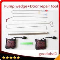 PDR Hooks Crowbar Tools Push Rods PDR Spring Steel Rods Tools Dent Paintless Repair Tools HandTool Hardware +gift 2X pump wedge