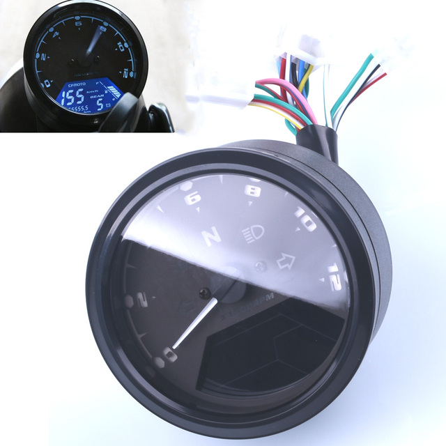 12000 Rmp Kmh  Mph Universal Lcd Digital Odometer