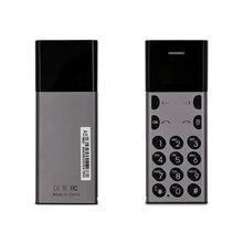 Супер мини мобильный телефон AEKU A5 ультра тонкий 0,96 дюймов крошечный экран Bluetooth Dialer анти-потеря мобильный телефон