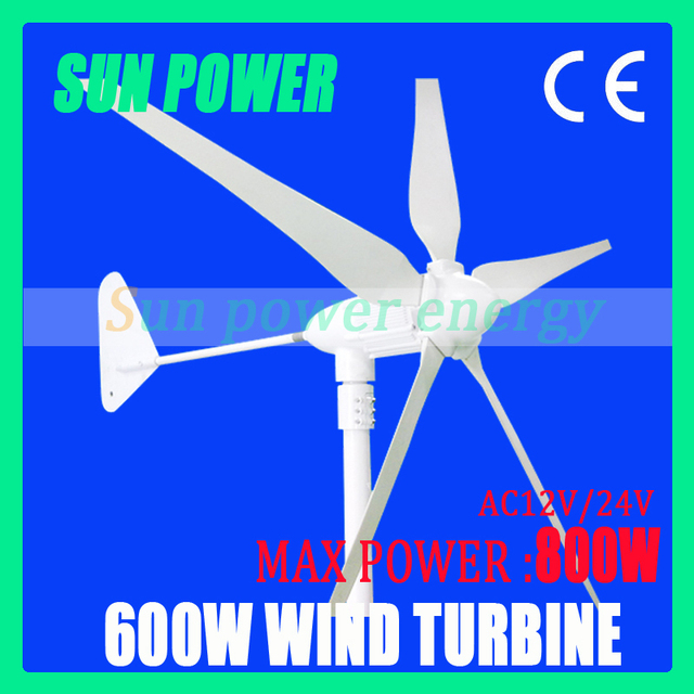Free shipping  Max power 800w small wind turbine generator AC12V/AC24V with CE certification ,high quality 2 years warranty