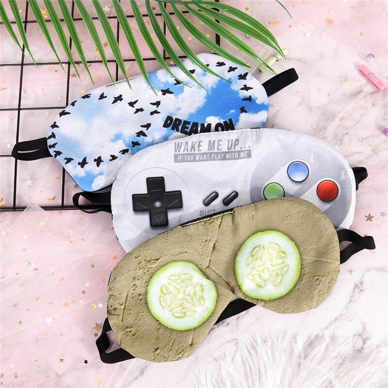 Rest Eye Shade Cover Sleeping Eye Mask Soft Padded Sleep Travel Shade Cover Rest Relax Sleeping Blindfold Eye Aid Mask