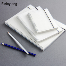 Фотография Simple Cute Style Transparent PP Cover Silver Double Coil Ring Spiral Notebook Diary Blank Dot Grid Line Inside Paper A5 A6 B5