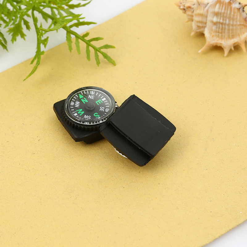 5pcs/lot Waterproof Compass Tool With Holster Watch Band Paracord Bracelet Navigation Camping Emergency Survival Accessory