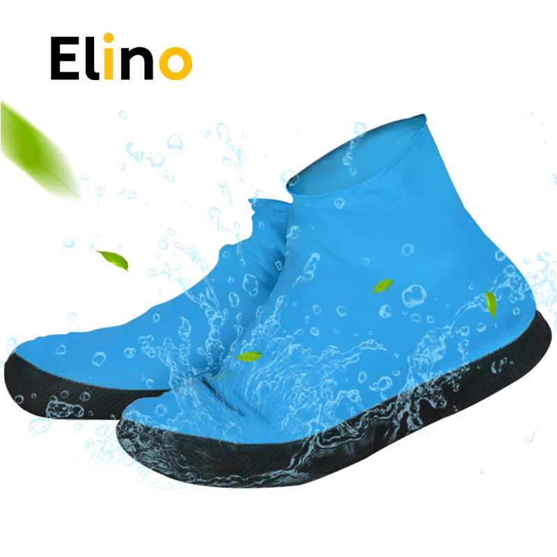 Elino Waterproof Shoe Cover for Men Women Shoes Elasticity Latex Rain Covers Easy Carry Overshoes Tear Resistant Boot Protector