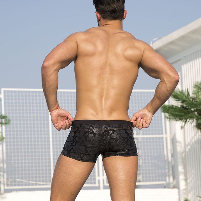Black Bold Sexy Trunks  3