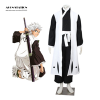 New Anime 10th Division Captain Vivid Hitsugaya Toushirou Cool Bleach Cosplay Costume Black Men Costume For Halloween Christmax