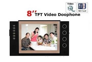 """8""""color video door phone monitor with SD card DECK,recording,taking photo ,video function home security intercom monitor instock"""